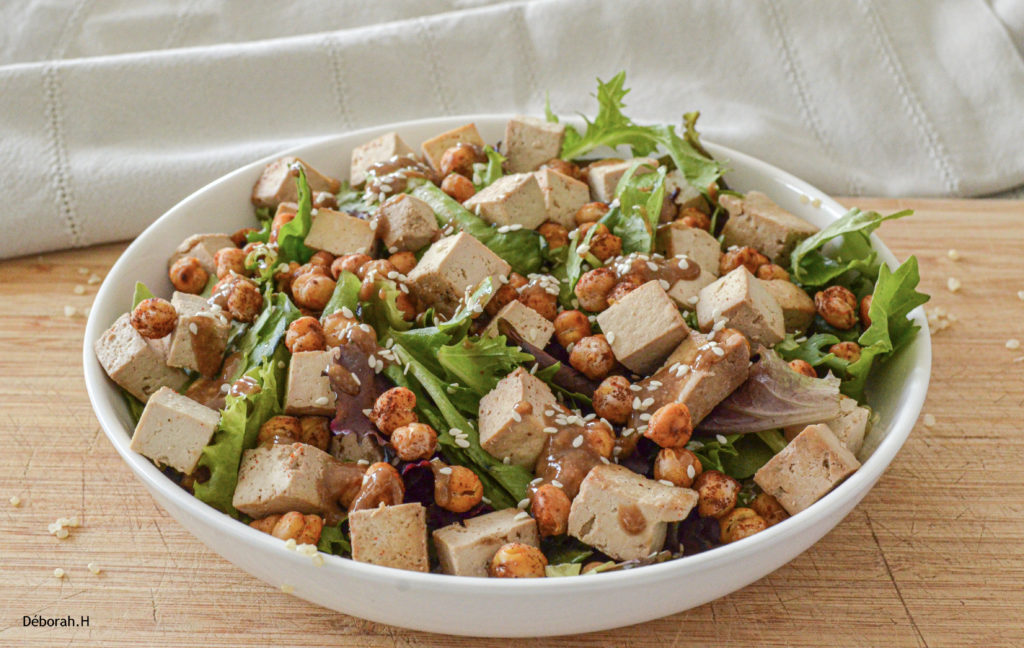 Salade tofu pois-chice